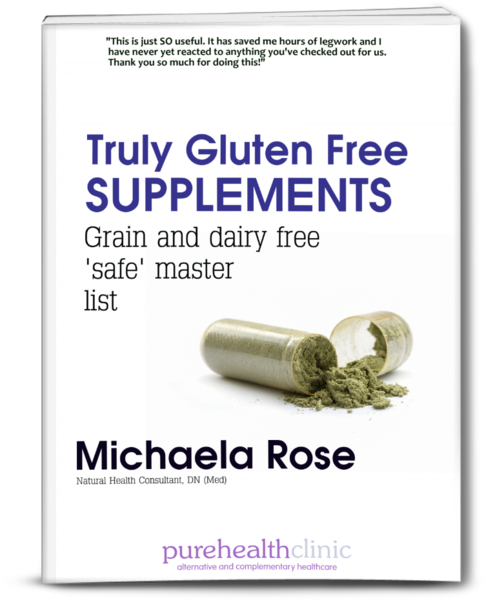 grain and dairy free supplements master list cover
