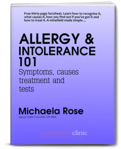 Cover of free allergy and intolerance 101 factsheet